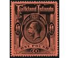 SG69. 1914 £1 Black/red. Brilliant fresh U/M mint...