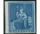 SG10. 1855 1d Deep blue. Brilliant fresh mint...