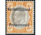 SG F1. 1910 6d Black and brown-orange. Superb mint with beautifu