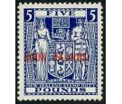 SG136. 1950 £5 Indigo-blue. Brilliant fresh well centred U/M min