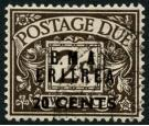 SG ED3a. 1948 20c on 2d Agate. No stop after 'A'. Superb fine us