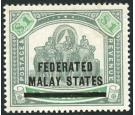 SG11. 1900 $1 Green and pale green. Very fine well centred mint.
