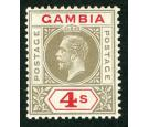 SG117. 1922 4/- Black and red. Superb fresh well centred mint...
