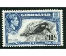 SG130a. 1943 10/- Black and blue. Perforation 13. Brilliant U/M