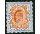 SG147. 1909 25r Brownish orange and blue. Superb well centred mi