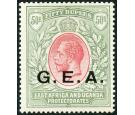 SG62. 1917 50r Carmine and green. Superb mint...