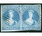 SG5. 1856 2d Blue. Choice brilliant fine used pair...