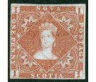 SG1 Variety. 1853 1d Red-brown. Superb mint with excellent colou