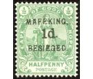 SG2. 1900 1d on 1/2d Green. Brilliant fresh mint...