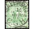 SG2. 1900 1d on 1/2d Green. Very fine used...