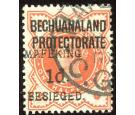 SG6. 1900 1d on 1/2d Vermilion. Superb fine used...
