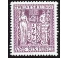 SG F156. 1935 12/6 Deep plum. Brilliant fresh U/M mint...