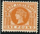 SG128. 1902 £1 Bright orange. Brilliant fresh mint...