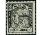 SG104. 1922 10/- Black. Superb fresh mint with exceptional full