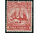 SG102w. 1900 1d Red. 'Watermark Inverted'. Superb fresh mint...