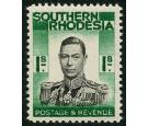 SG48a. 1937 1/- Black and blue-green. 'Double Print Of Frame'. B