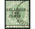 SG47. 1891 2c on 24c Green. Exceptionally fine used...