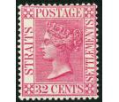 SG94a. 1894 3c on 32c Carmine-rose. 'Surcharge Omitted'. Choice