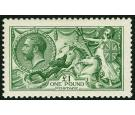 SG403, 1913 £1 Deep green. Brilliant fresh well centred mint...