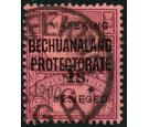 SG14. 1900 1s on 6d Purple/rose-red. Superb used...
