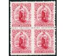 SG297. 1902 1d Carmine. Superb fresh well centred mint block of