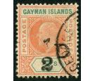 SG18. 1907 1/2d on 5/- Salmon and green. Brilliant fine used...