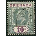 SG76. 1906 10/- Green and purple. Superb fine used...
