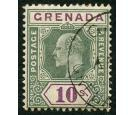 SG66. 1902 10/- Green and purple. Superb fine used with beautifu