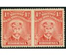 SG193a. 1913 1d Red. 'Horizontal Pair, Imperforate Between'. U/M