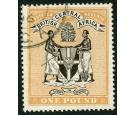 SG29. 1895 £1 Black and yellow-orange. Superb fine well centred