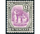 SG120. 1913 £1 Mauve and black. Superb fresh U/M mint...