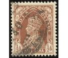 SG248w. 1937 1/2a Red-brown. 'Watermark Inverted'. Very fine use