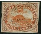 SG1ab. 1851 3d Red. 'Laid Paper'. 'Major re-entry'. Superb fine