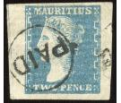 SG43. 1859 2d Slate-blue. Superb fine used...