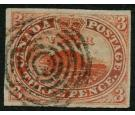 SG5. 1852 3d Red. Superb fine used...