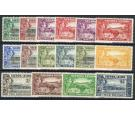 SG188-200. 1938 Set of 16. Brilliant fresh U/M mint...