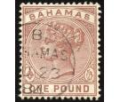 SG57 1884 £1 Venetian red. Choice superb fine used...