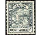 SG96. 1919 10/- Black. Superb perfectly centred mint...