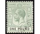 SG89. 1912 £1 Dull green and black. Exceptionally fine used...