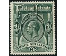 SG66. 1912 3/- Slate-green. Very fine well centred mint...