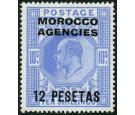 SG125. 1912 12p on 10/- Blue. Superb fresh mint...