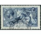 SG402. 1913 10/- Indigo-blue. Select superb fine well centred us
