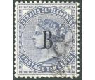 SG21. 1882 10c Slate. Very fine well centred used...