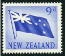 SG790a. 1950 9d Flag. 'Red Omitted'. Brilliant fresh U/M mint...