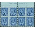 SG178. 1903 5c Blue/bluish. Brilliant U/M Imprint block of 8...
