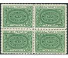 SG S1. 1898 10c Blue-green. Choice superb fresh mint block...