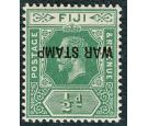 SG138c. 1917 1/2d Blue-green. 'Overprint Inverted'. Brilliant fr