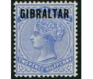 SG4a. 1886 2 1/2d Ultramarine. 'Overprinted in blue-black. Brill