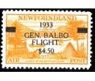 SG235b. 1933 $4.50 on 10c (Land of Heart's Delight) Orange-yello