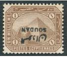 SG1a. 1897 1m Pale brown. 'Overprint Inverted'. Choice superb fr